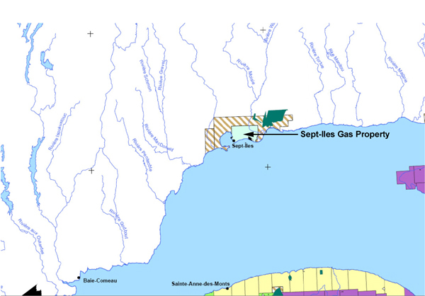 SeptIles Gas Property Map